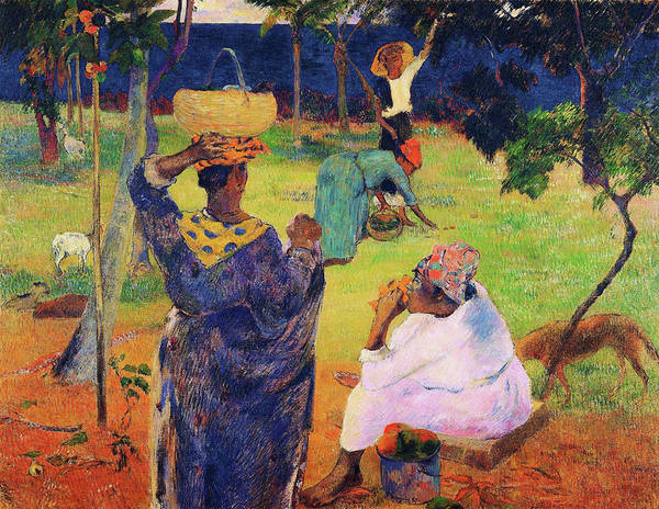 Wall Art - Painting - The Mango Trees, Martinique - Digital Remastered Edition by Paul Gauguin