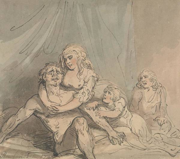 Drawing - The Maniac by Thomas Rowlandson
