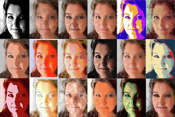 Wall Art - Photograph - The Many Faces Of An Artist by Paulette B Wright