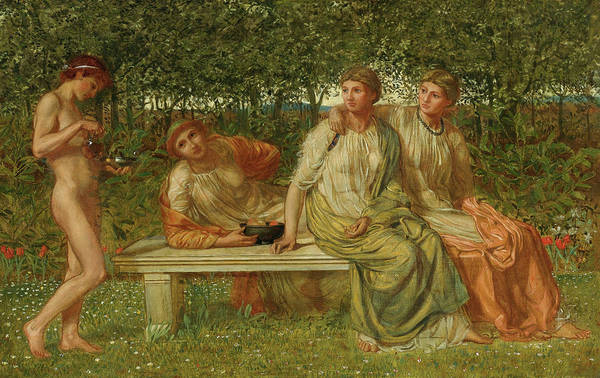 Wall Art - Painting - The Marble Seat, 19th Century by Albert Joseph Moore