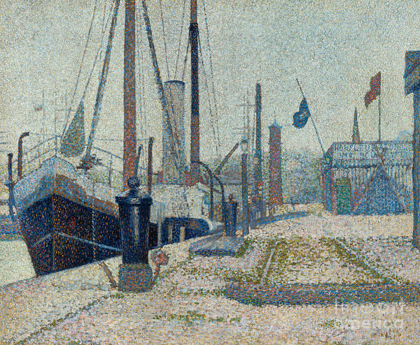 Wall Art - Painting - The Maria At Honfleur, 1886 by Georges Pierre Seurat
