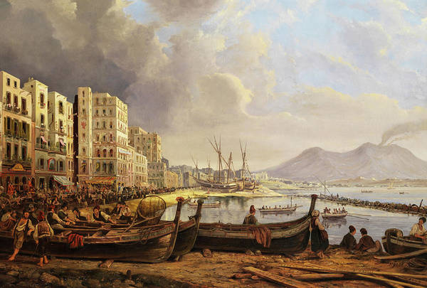Sicily Painting - The Marinella Coast In Napoli by Pieter van Loon