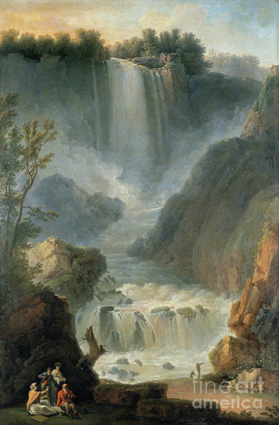 Wall Art - Painting - The Marmore Waterfall, Terni by Michael Wutky