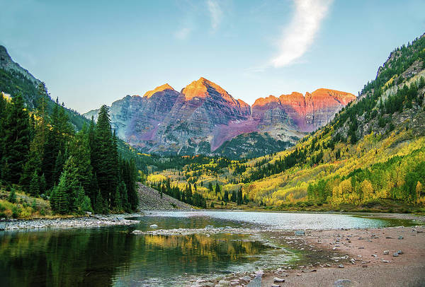 Photograph - The Maroon Bells by Gordon Ripley