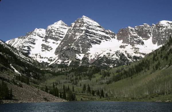 Photograph - The Maroon Bells In The Colorado Rocky by George Rose