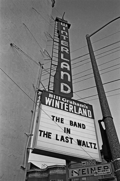 Pop Music Photograph - The Marquee For The Last Waltz by Michael Ochs Archives