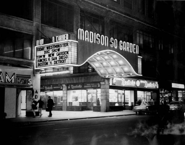 Madison Square Garden Photograph - The Marquee Of The Old Madison Square by New York Daily News Archive