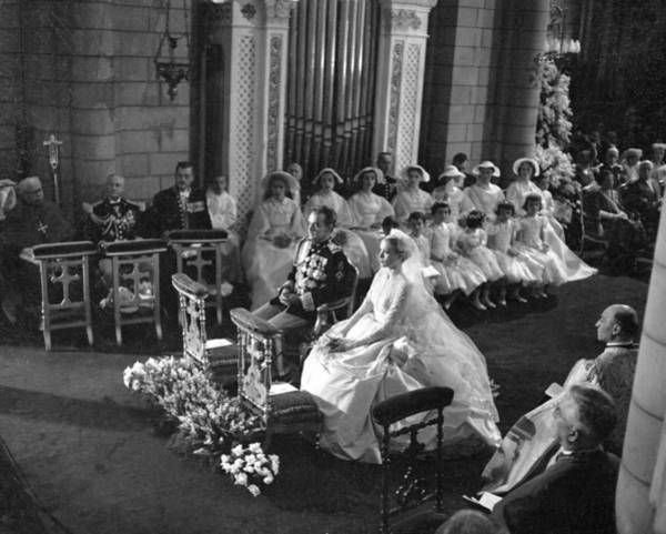 Monaco Photograph - The Marriage Of Prince Rainier Of by Keystone-france