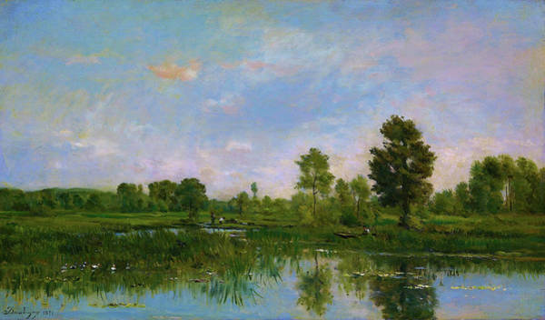 Wall Art - Painting - The Marsh - Digital Remastered Edition by Charles-Francois Daubigny