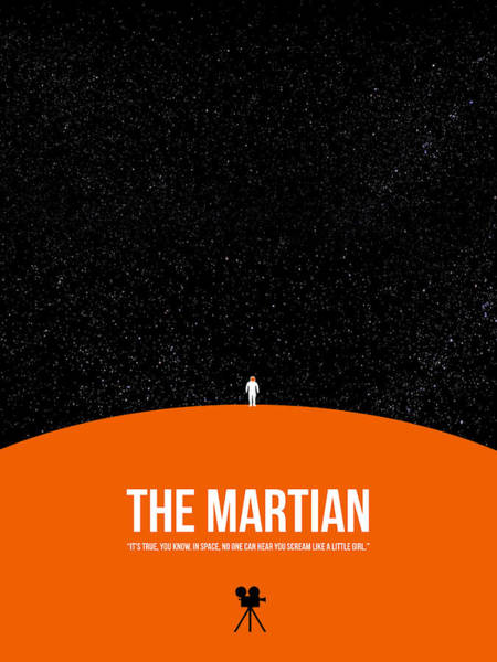 Wall Art - Digital Art - The Martian by Naxart Studio