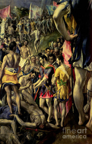 Wall Art - Painting - The Martyrdom Of St Maurice, Detail by El Greco