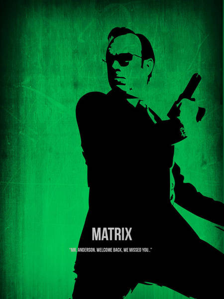 Wall Art - Digital Art - The Matrix Agent Smith by Naxart Studio
