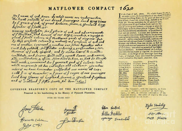 The Mayflower Compact  Art Print