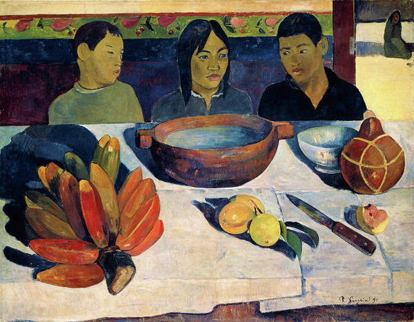 Wall Art - Painting - The Meal, Also Called Bananas - Digital Remastered Edition by Paul Gauguin