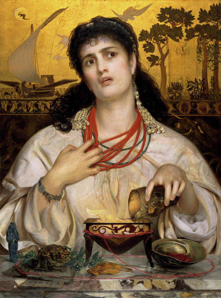 Wall Art - Painting - The Medea by Frederick Sandys
