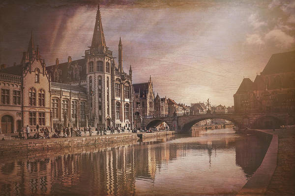 Townscape Wall Art - Photograph - The Medieval Old Town Of Ghent  by Carol Japp
