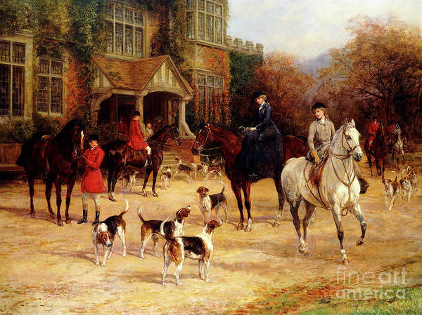 Wall Art - Painting - The Meet By Heywood Hardy by Heywood Hardy