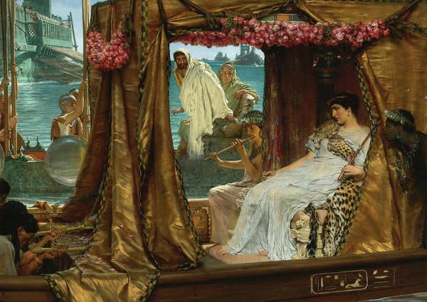 Wall Art - Painting - The Meeting Of Antony And Cleopatra, 1885 by Lawrence Alma-Tadema