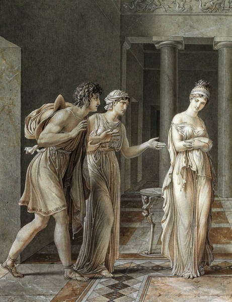 Wall Art - Painting - The Meeting Of Orestes And Hermione, 1800 by Anne-Louis Girodet de Roucy-Trioson