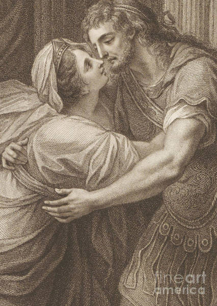 Wall Art - Drawing - The Meeting Of Ulysses And Penelope by John Francis Rigaud