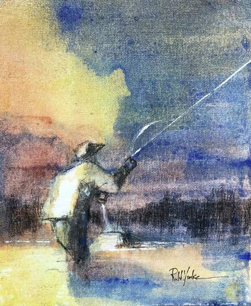 Angler Wall Art - Painting - The Mend by Robert Yonke