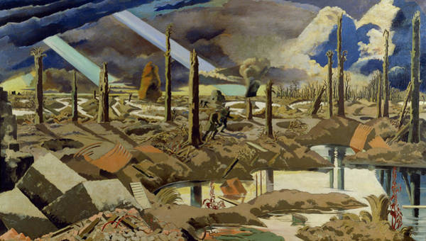 Wall Art - Painting - The Menin Road by Paul Nash