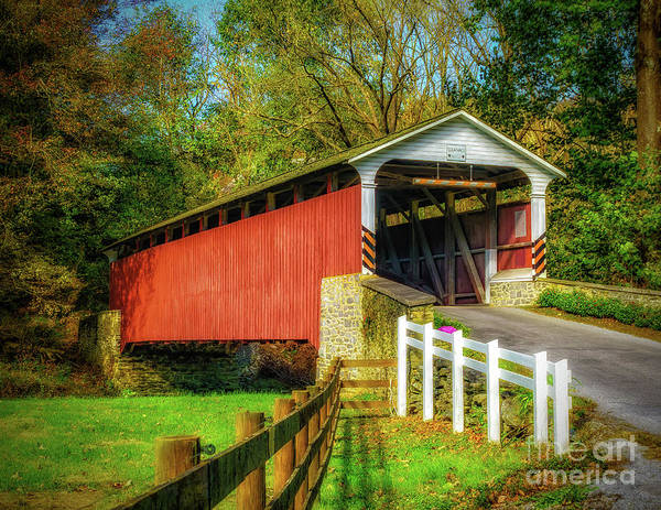 Photograph - The Mercer's Mill Covered Bridge by Nick Zelinsky