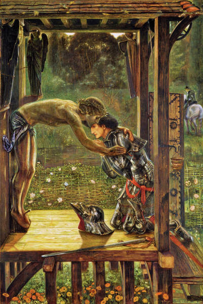 Wall Art - Painting - The Merciful Knight - Digital Remastered Edition by Edward Burne-Jones