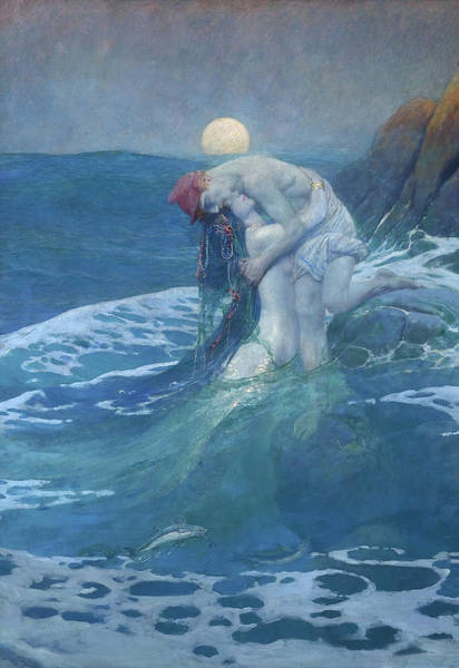 Wall Art - Painting - The Mermaid, 1910 by Howard Pyle