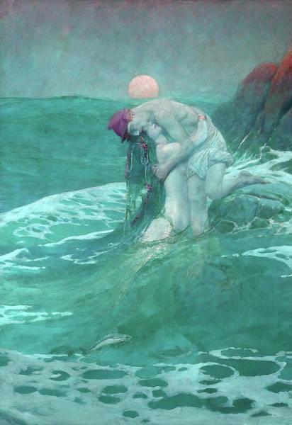 Howard Painting - The Mermaid, Date 1910 by Howard Pyle