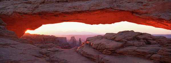 Natural Arch Photograph - The Mesa Arch, A Natural Eroded Rock by Mint Images - David Schultz