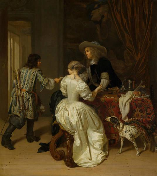 Painting - The Messenger by Jan Verkolje