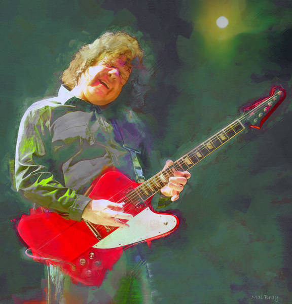 Wall Art - Mixed Media - The Messiah Will Come Again, Gary Moore,  by Mal Bray