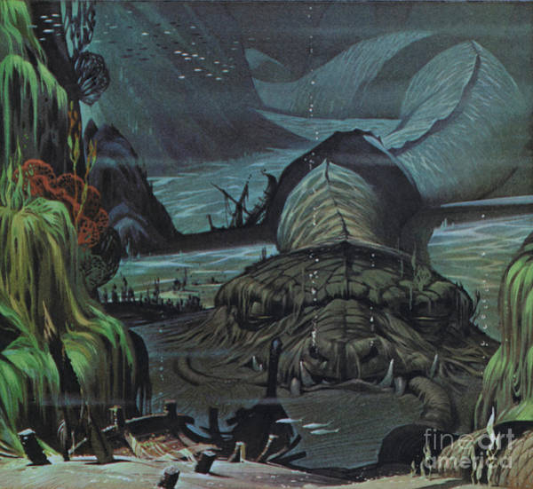 Wall Art - Painting - The Midgard Serpent  by Angus McBride