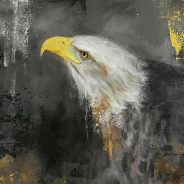 Painting - The Mighty Bald Eagle by Jai Johnson
