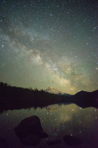 Wall Art - Photograph - The Milky Way Rising Over Mt by Greg Probst