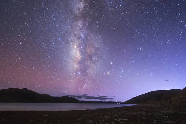 Wall Art - Photograph - The Milky Way Shines In The Evening by Jeff Dai