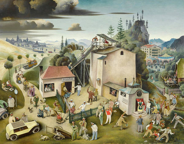Ugly Painting - The Mill Of Rejuvenation by Franz Sedlacek