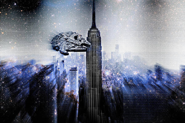 Wall Art - Photograph - The Millennium Falcon Tours Manhattan by Aurelio Zucco