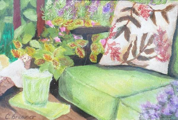 Wall Art - Painting - The Miniature Patio by Christy Saunders Church