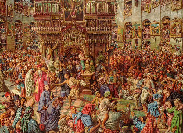 Wall Art - Painting - The Miracle Of The Sacred Fire, Church Of The Holy Sepulchre, 1899 by William Holman Hunt