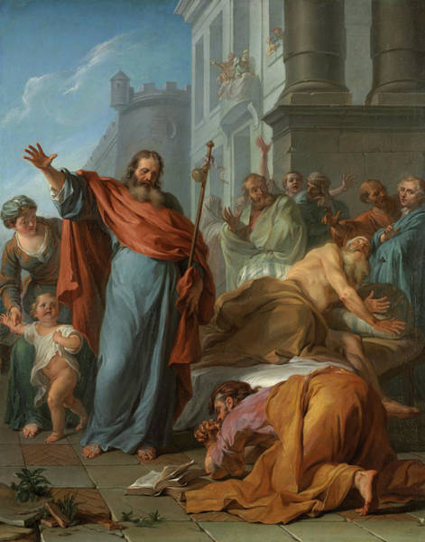 Wall Art - Painting - The Miracles Of Saint James The Greater, 1726 by Noel Nicolas Coypel