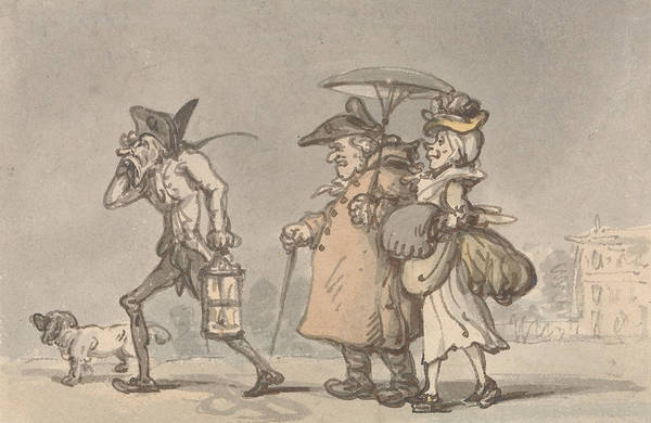 Drawing - The Miseries Of The Country by Thomas Rowlandson