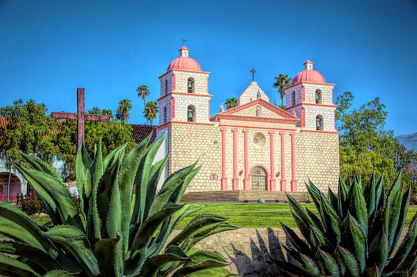 Photograph - The Mission Santa Barbara by Barbara Snyder