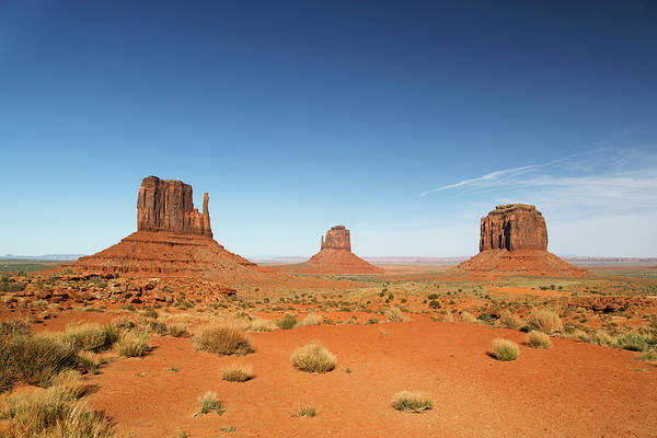 The Mitten Photograph - The Mittens In Monument Valley by Guy Vanderelst