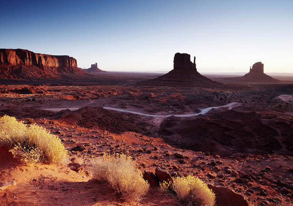 The Mitten Photograph - The Mittens Monument Valley, Sunrise by Gary Yeowell