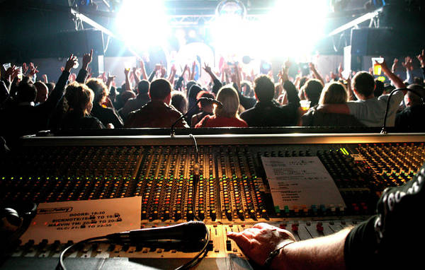 Photograph - The Mixing Desk And Crowd At A Gig by Diverse Images/uig