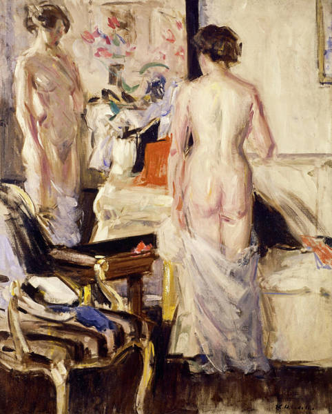 Wall Art - Painting - The Model, 1912 by Francis Cadell
