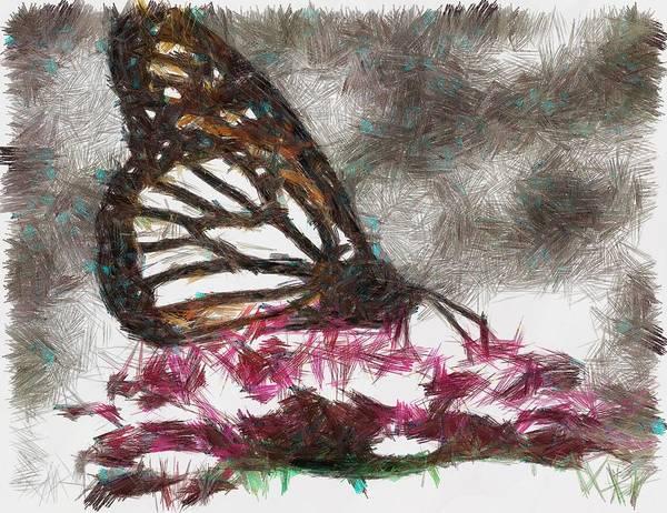 Digital Art - The Monarch by Mario Carini