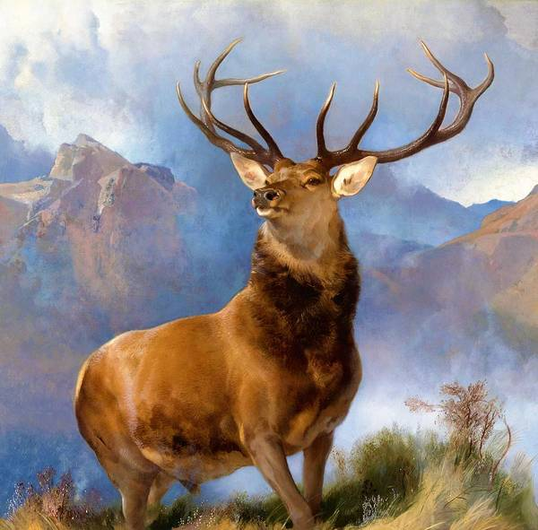Wall Art - Painting - The Monarch Of The Glen - Digital Remastered Edition by Edwin Henry Landseer